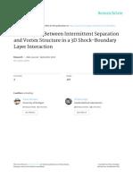 Relation Between Intermitant and Vortex Structure