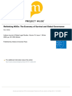 ABELES, Marc. Rethinking NGOs - The Economy of Survival and Global Governance