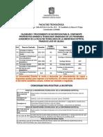 Calendario Componente Propedeutico 2016-2-2