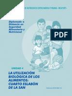 Diplomado SAN - Unidad 4 La Utilizacion Biologica de Los Alimentos Cuarto Eslabon de La SAN