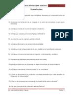 Cuestionario Irrigacion-drenaje Venoso