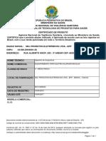 Certificado Do Produto EL30 ANVISA_validade 16-04-17