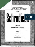 Schradieck - Schule Der Violin Heft I