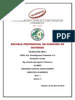 Act. Investigacion Formativa I U