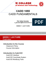 CADD-1055 AutoCAD Lecture 1