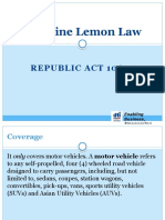 Lemon Law Q & A