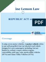 Lemon Law Q & A
