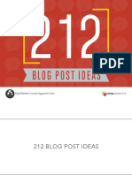 212 Blog Post Ideas