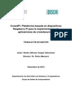 CrowdPi- Plataforma Basada en Dispositivos Raspberry Pi