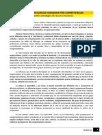 Lectura - Gestión de Recursos Humanos Por Competencias