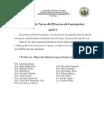 Informe de Cierre Del Proceso de Inscripciones