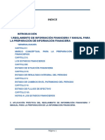 Estudio y Aplicacion Del Reglamento y Manual Para La Preparacion de Estados Financieros