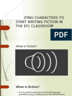 Creating Characters to Start Writing Fiction in The