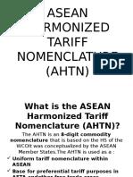 Asean Harmonized Tariff Nomenclature (AHTN)