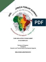 India Africa Declaration