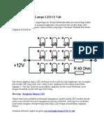 Cara Merangkai Lampu LED 12 Volt