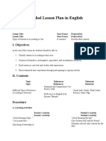 Sample Detailed Lesson Plan in English