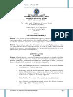 Reglamento de Tránsito de Panamá