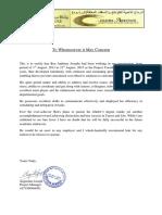 Work Experience sample Letter Golden Arrow