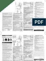 Manual batedeira planetária deluxe Arno