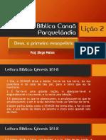 Escola Bíblica Canaã Parquelândia 10-07-2016