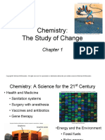 Chapter 1 Chemistry the Study of Change