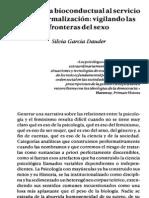 Ingenieria Bioconductual al servicio dela normalización:vigilando las fronteras del sexo.
