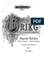 2 Elegiac Melodies, Op.34 - Transcription for Piano and Cello