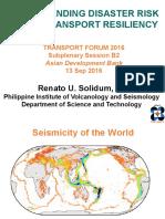 Subplenary B2_Renato Solidum_Understanding Disaster Risk