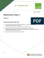 Secondary Progression Test - Stage 8 Math Paper 3 TI