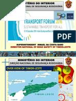 Plenary C1_Ismael Da Costa Babo_Road Safety Timor-Leste