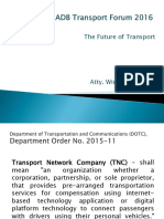 Subplenary D1_Winston Ginez_Regulating Transport Network Companies