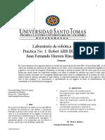 Laboratorio 1 ROBOT IRB 120