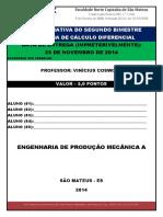 2014 - LISTA AVALIATIVA DO 2° BIMESTRDE CÁLCULO I - REGRAS DE DERIVAÇÃO - PROFESSOR FLAVIO REIBIERO (1).pdf