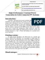 High-Performance Constant Power Generation in Grid-Connected PV Systems