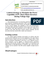 Control Strategy to Maximize the Power Capability of PV Three-Phase Inverters During Voltage Sags
