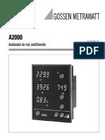 Analizador de Redes A2000