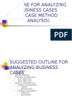 Outline for Analyzing Business Cases