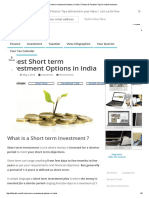 7 Best Short Term Investment Options in India