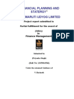 Financial Planning and Strategy of Maruti Udyog Ltd Project