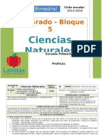 Plan 4to Grado - Bloque 5 Ciencias Naturales.doc