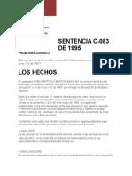 sentencia 083/95 resumen
