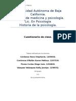 Cuestionario Historia
