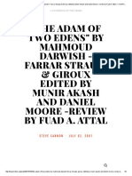 _The Adam of Two Edens_ by Mahmoud Darwish -Farrar Strauss & Giroux Edited by Munir Akash and Daniel Moore -Review by Fuad A