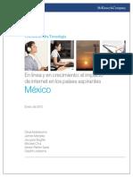 El Impacto de Internet en Los Paises Aspirantes-Mexico