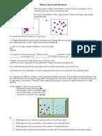 Diffusion and Osmosis Worksheet 1