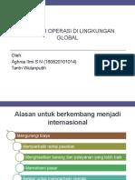 Strategi Operasi Di Lingkungan Global