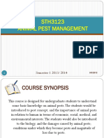 1 L1 Introduction STH3123 Animal Pest Management 9Sept2013