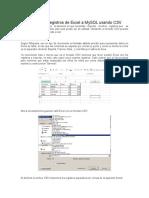 Como Importar Registros de Excel a MySQL Usando CSV