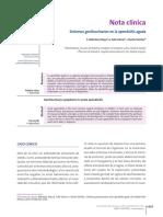 Nota Clinica Sintomas Genitourinarios en La Apendicitis Aguda Nota Clinica